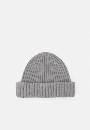 SLHHENRIK BEANIE - Lue - light grey melange