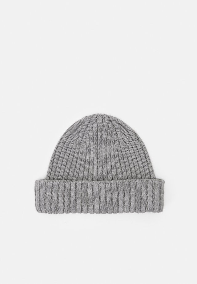 SLHHENRIK BEANIE - Pipo - light grey melange