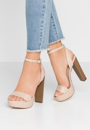 HAAUDIA VEGAN - High heeled sandals - bone