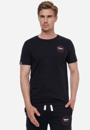 RUNDER PRINT - Print T-shirt - schwarz rot
