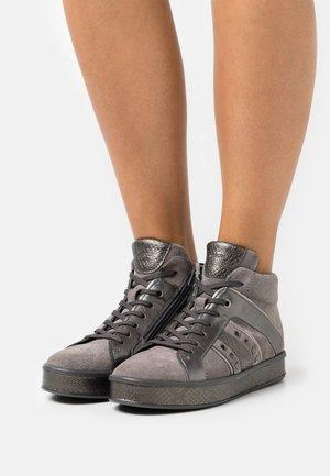 LEELU - Höga sneakers - dark grey