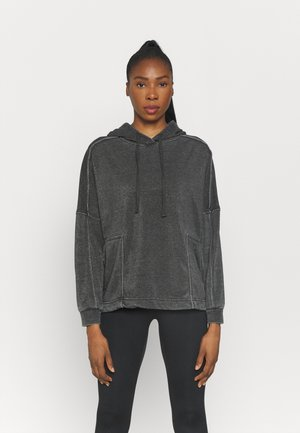 LIFESTYLE RELAXED HOODIE - Sweater - washed black
