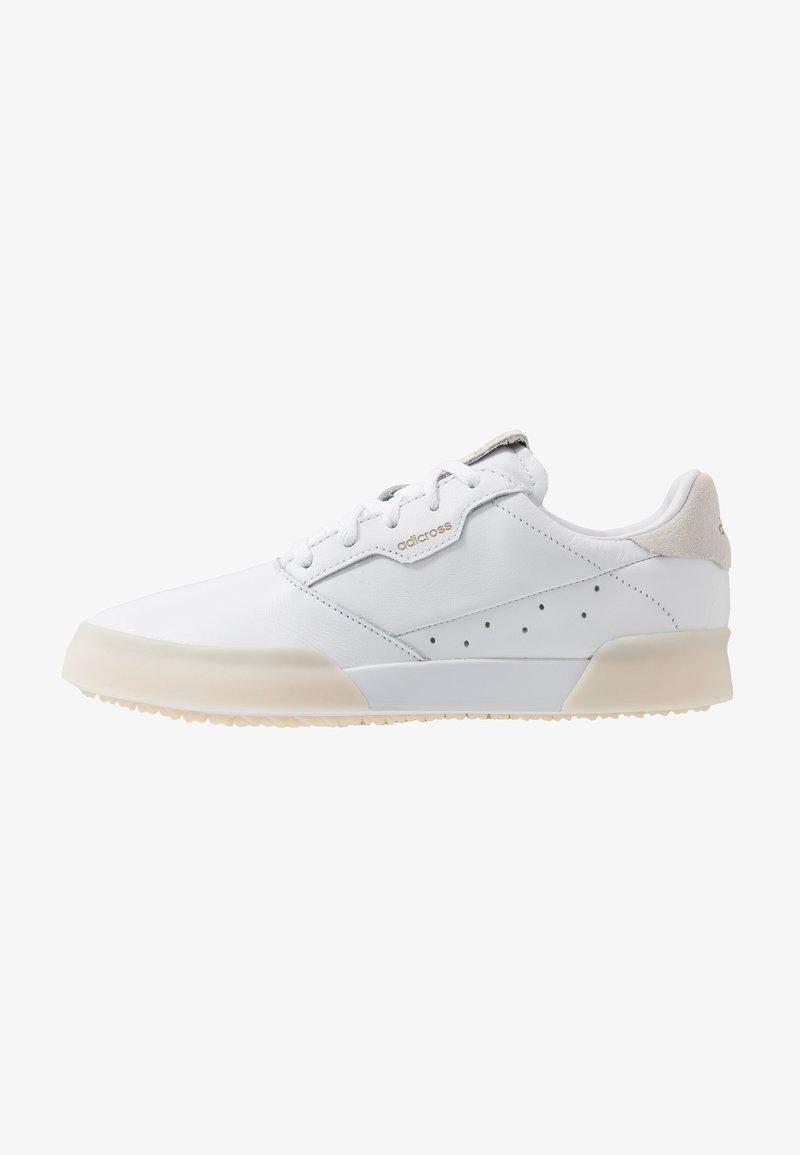 adidas Golf - ADICROSS RETRO - Golf shoes - footwear white/gold metallic/crystal white