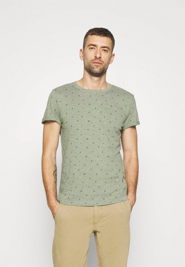 T-shirt print - green organic