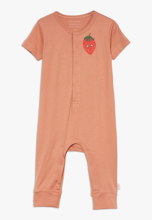 STRAWBERRY ONE PIECE - Jumpsuit - tan/red