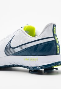 Nike Golf - REACT INFINITY PRO - Obuwie do golfa - white/valerian blue/lemon - 5