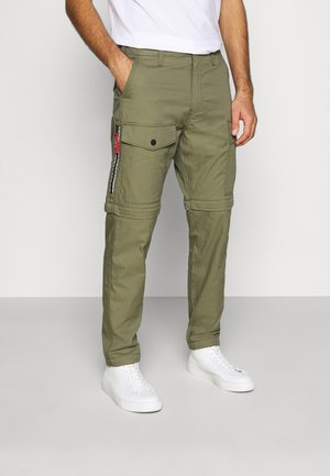 LO-BALL ZIP OFF CARGOS - Cargobukser - muddy forest