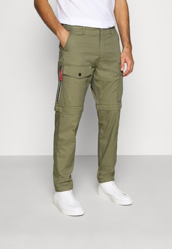 LO-BALL ZIP OFF CARGOS - Cargo trousers - muddy forest
