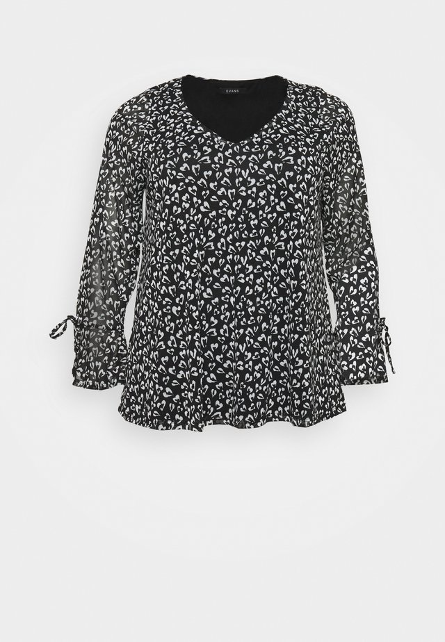 HEART PRINT TOP - Blouse - ivory
