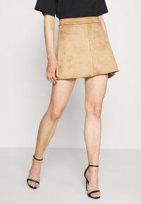 ONLY - ONLLINEA BONDED SKIRT  - A-line skirt - toasted coconut - 0
