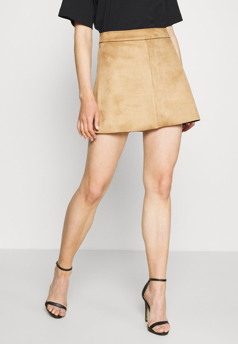 ONLY - ONLLINEA BONDED SKIRT  - A-line skirt - toasted coconut