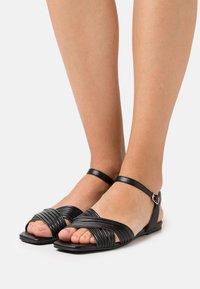 Bianco - BIADELORA THIN STRAP  - Sandals - black - 0
