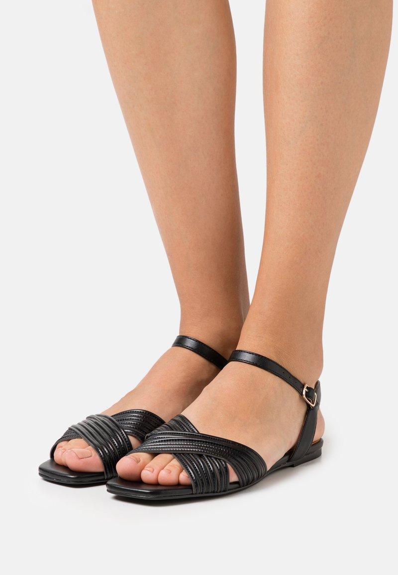 Bianco - BIADELORA THIN STRAP  - Sandals - black
