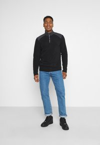 Brave Soul - THERMAL - Fleece jumper - black/slate grey - 1