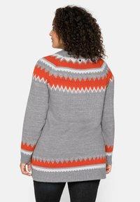Sheego - Jumper - mottled grey/coral - 2