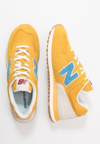 New Balance - 574 - Sneakersy niskie - blue/yellow