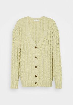 JASMIN AZIZAM OVERSIZED CARDIGAN - Cardigan - beige khaki