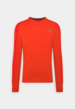 MENS CREW NECK ZEBRA - Trui - red