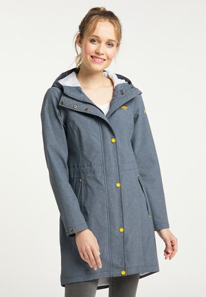 Waterproof jacket - rauchmarine melange