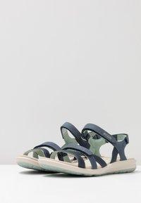 ECCO - CRUISE II - Walking sandals - marine/ice flower - 4