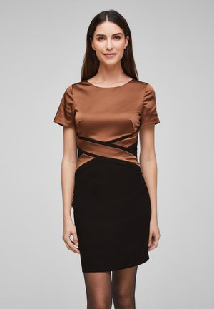 Cocktail dress / Party dress - black/brown