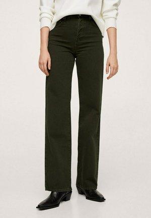 KAIA - Straight leg jeans - vert forêt