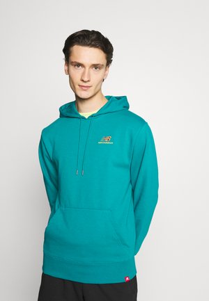 ESSENTIALS EMBROIDERED HOODIE - Sweatshirt - team teal