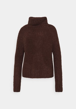 ONLOLIVIA LOOSE ROLLNECK  - Strikkegenser - chocolate brown