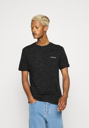 TURN UP SLEEVE - T-shirt con stampa - black