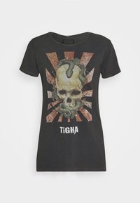Tigha - SNAKE SKULL WREN - T-shirt print - vintage black - 4