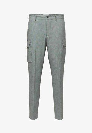 Cargo trousers - light grey melange