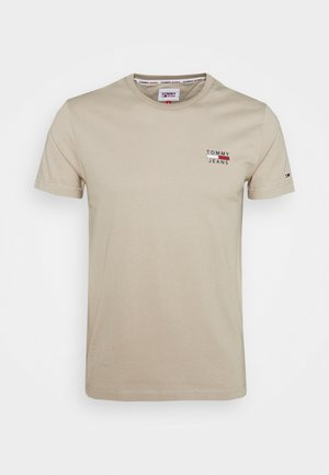CHEST LOGO TEE - T-shirt med print - beige