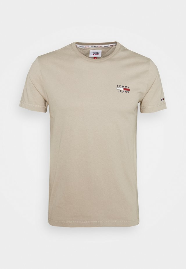 CHEST LOGO TEE - T-shirt print - beige