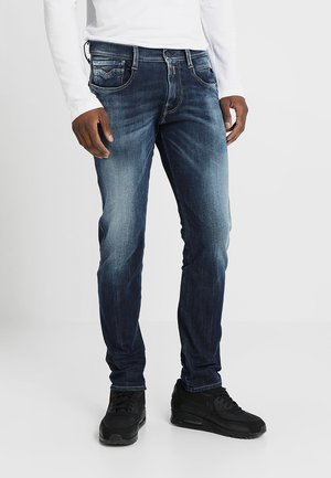 HYPERFLEX + ANBASS - Straight leg jeans - dark blue