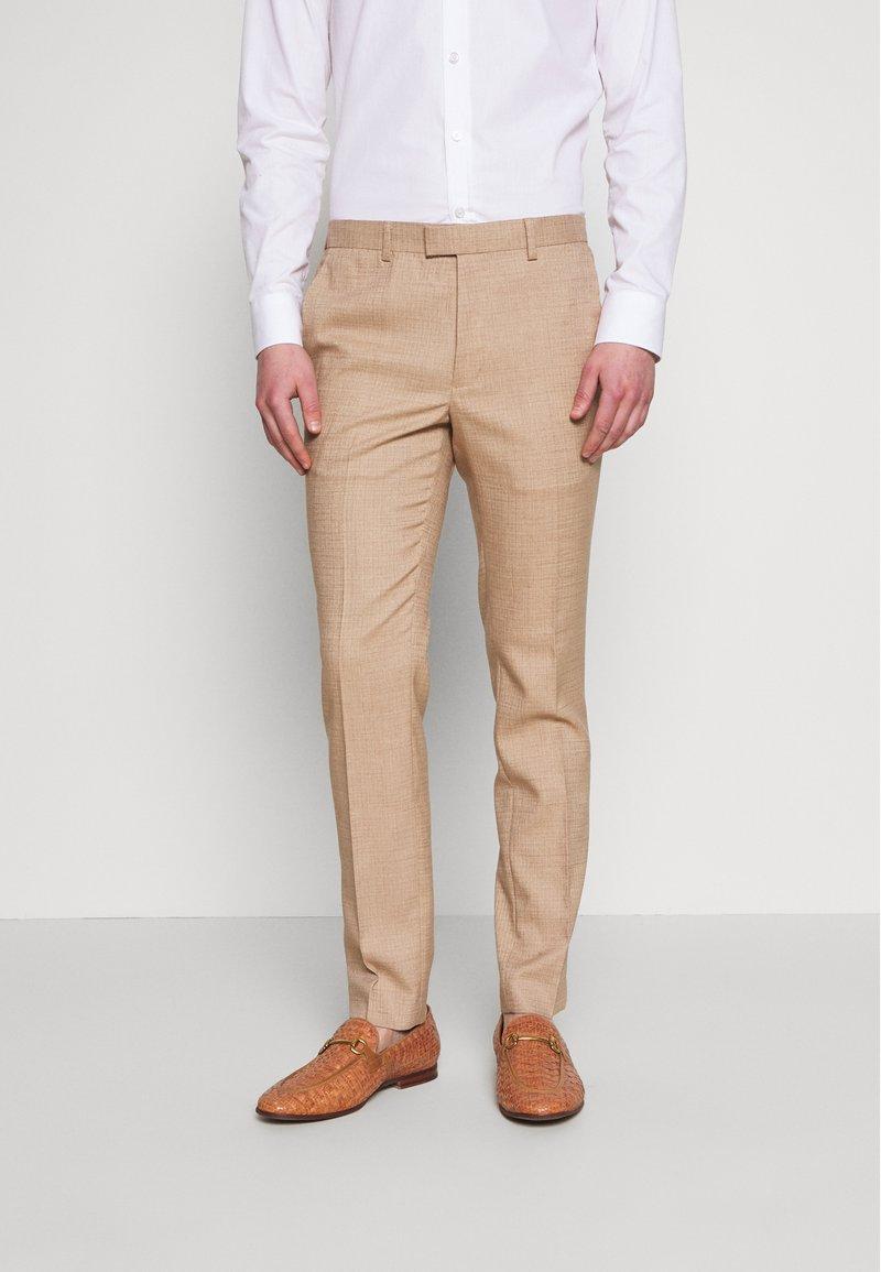 Topman - DAX DENZEL - Pantaloni eleganti - stone