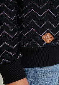 Ragwear - DARIA ZIG ZAG - Sweatshirt - black - 4