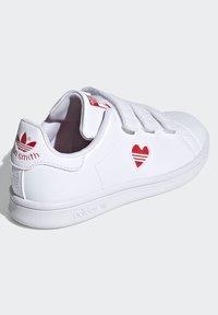 adidas Originals - STAN SMITH CF C PRIMEGREEN ORIGINALS SNEAKERS SHOES - Sneakers laag - white/vivid red - 2