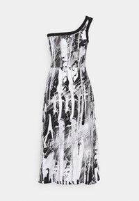 Christopher Kane - MINDSCAPE ONE SHOULDER DRESS - Vestito di maglina - black/white - 7