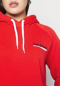 Lee Plus - HOODIE - Bluza z kapturem - red - 5