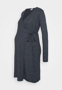 MAMALICIOUS - MLSANDIE TESS DRESS - Vestido ligero - navy blazer/snow white - 0