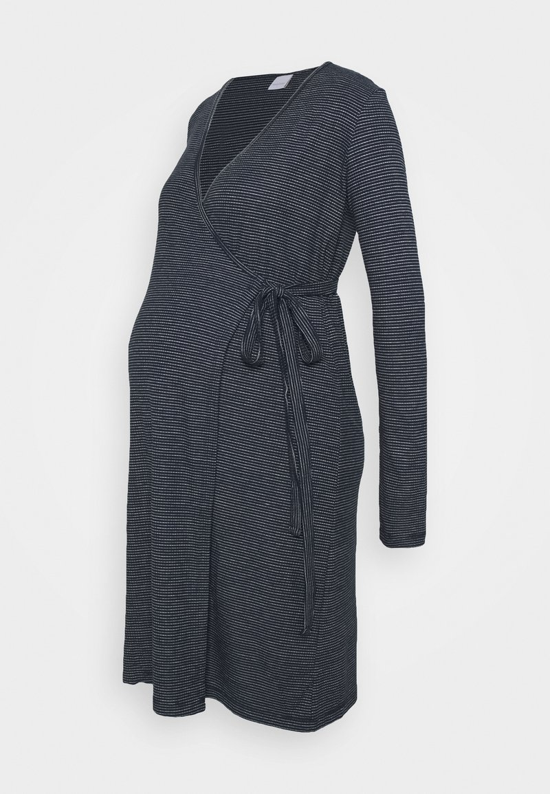 MAMALICIOUS - MLSANDIE TESS DRESS - Vestido ligero - navy blazer/snow white