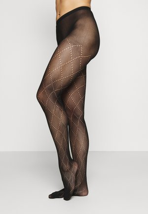 LOSANGE FISHNET TIGHT STYLE - Collant - black