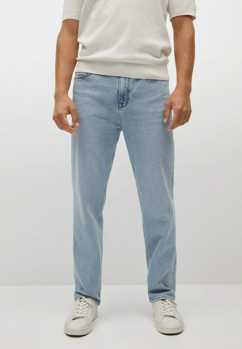 Mango - Relaxed fit jeans - hellblau