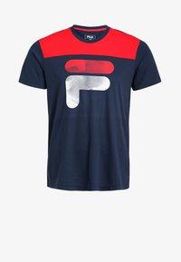 Fila - TIM  - Print T-shirt - peacoat blue/fila red - 5