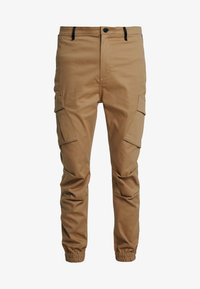 SIKSILK - ELASTIC CUFF PANT - Pantaloni cargo - beige - 3