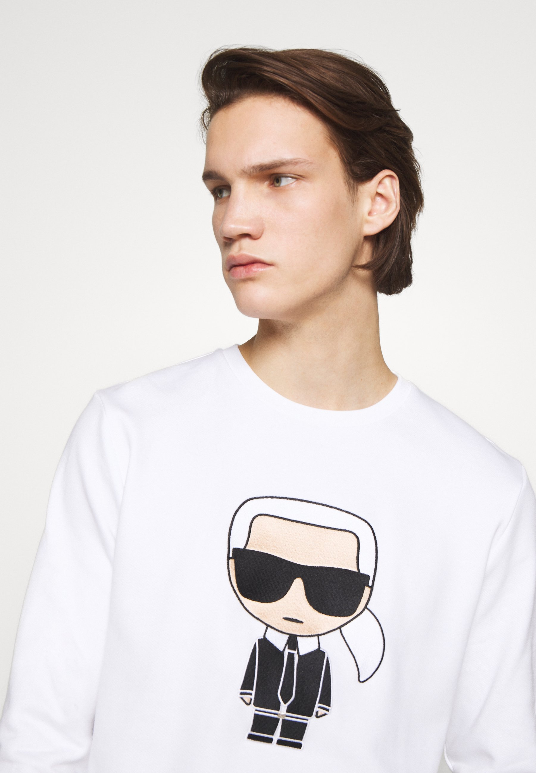 KARL LAGERFELD CREWNECK - Sweatshirt - white