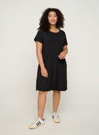 Zizzi - VFREJA DRESS - Jersey dress - black - 1