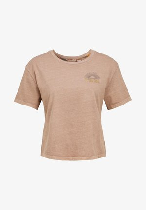 LONGBOARD  - Print T-shirt - beige