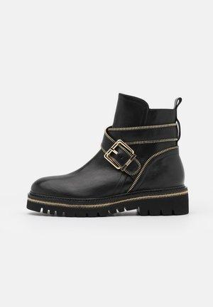 ZIP STREET - Cowboy/biker ankle boot - black