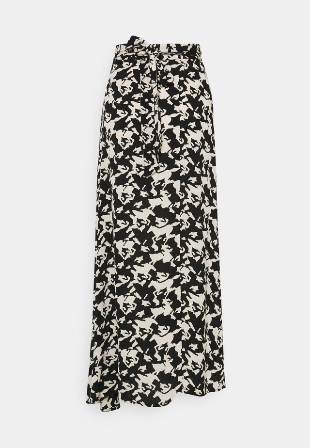 BOBO SKIRT - Zavinovací sukně - black/warm white